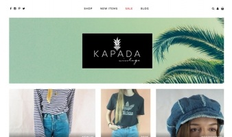 eCommerce website: Kapada Vintage