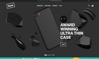 eCommerce website: Kase