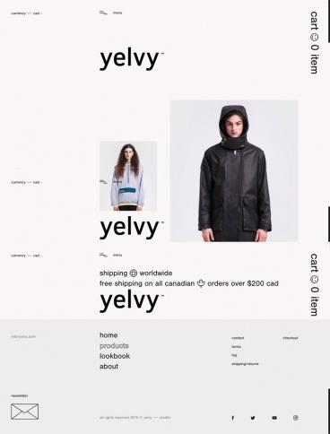 eCommerce website: yelvy