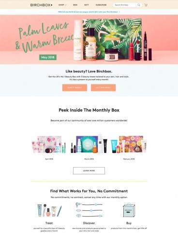 eCommerce website: Birchbox