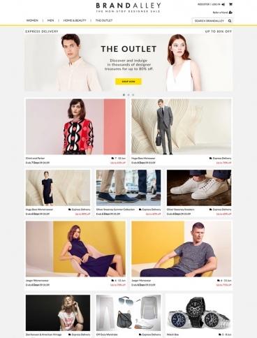 eCommerce website: Brand Alley