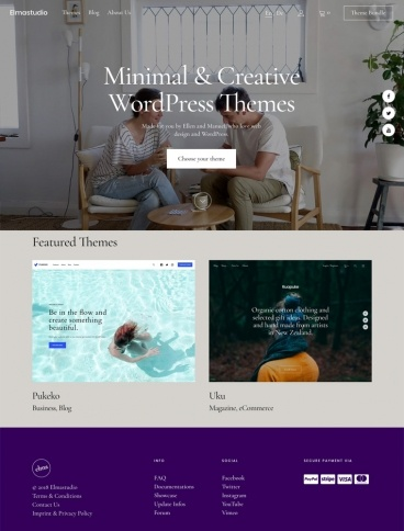 eCommerce website: Elmastudio