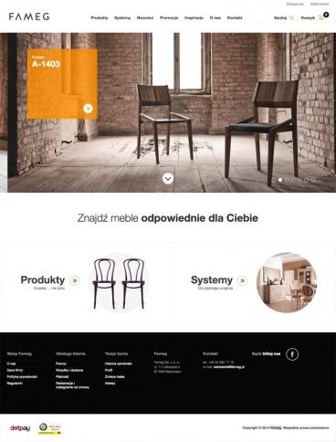 eCommerce website: Fameg