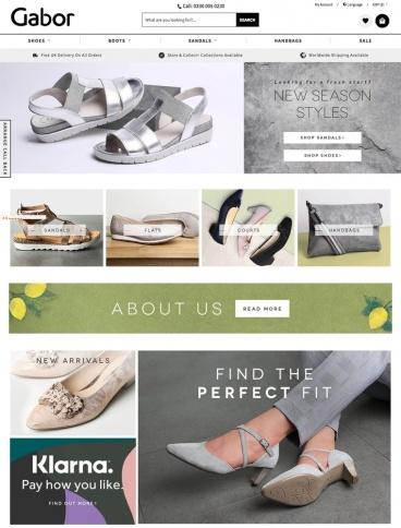 eCommerce website: Gabor Shoes