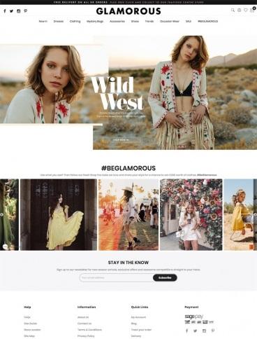 eCommerce website: Glamorous