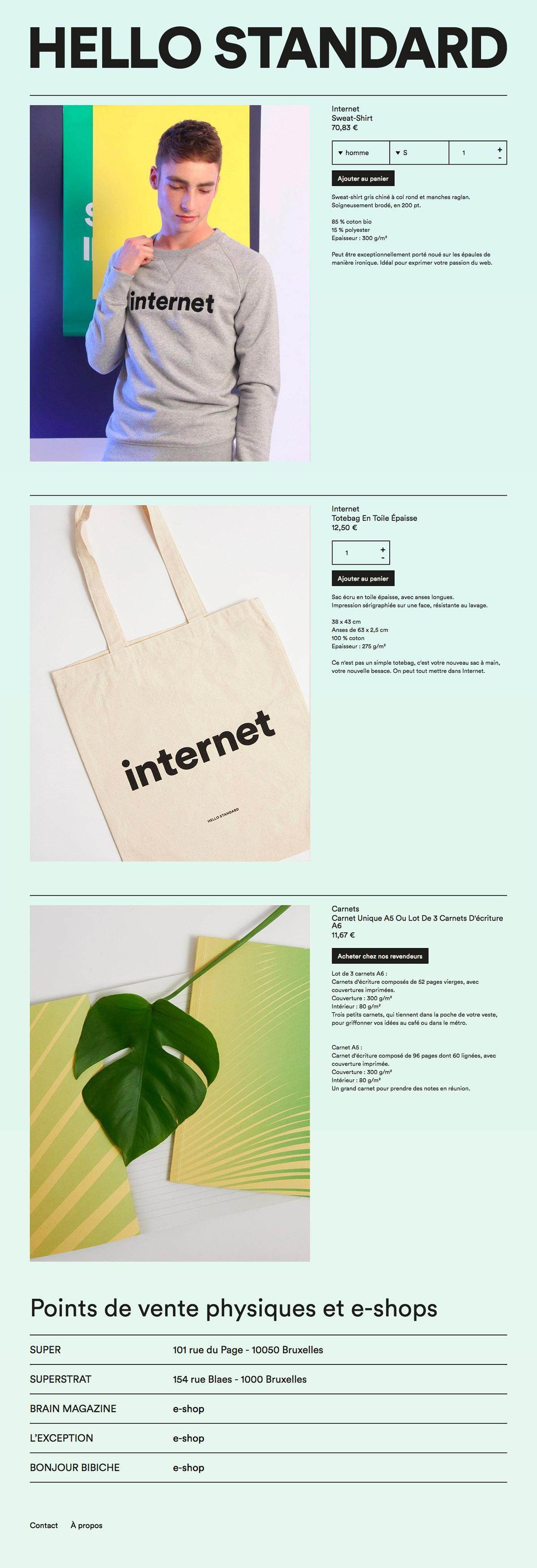 eCommerce website: Hello Standard