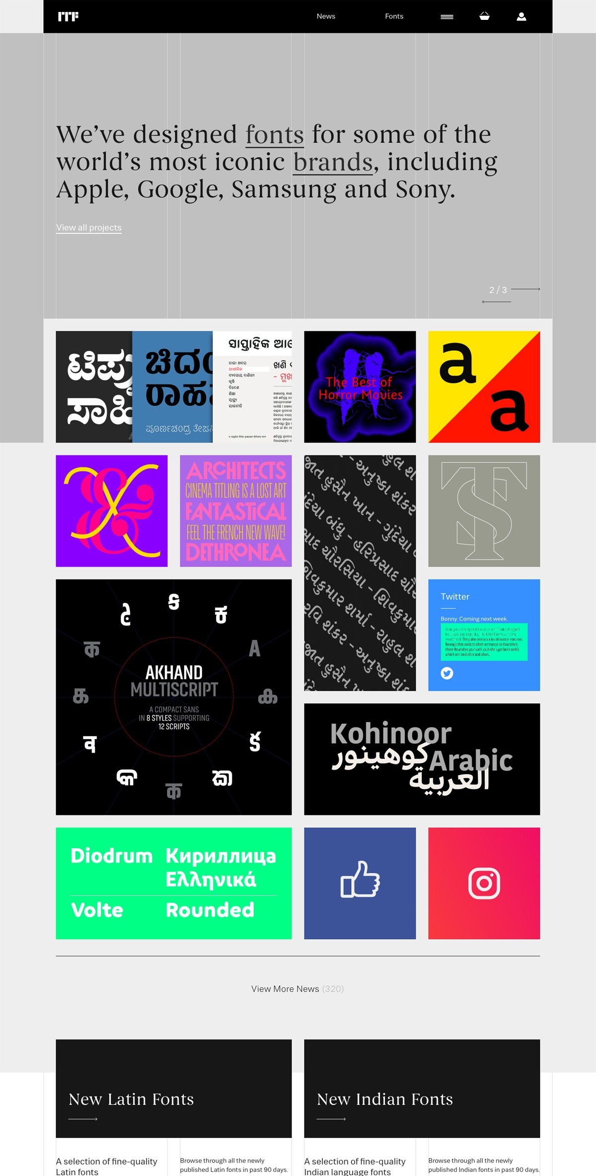 eCommerce website: Indian Type Foundry
