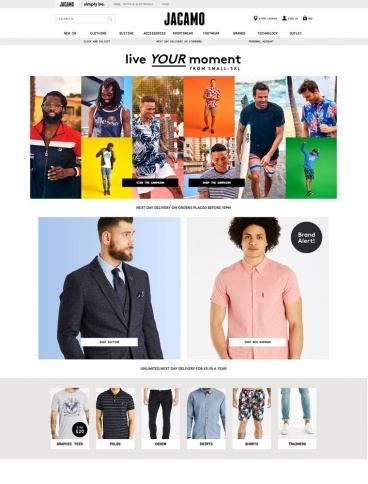 eCommerce website: Jacamo