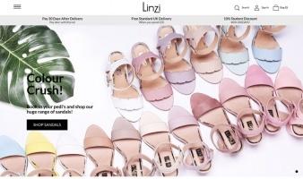 eCommerce website: Linzi