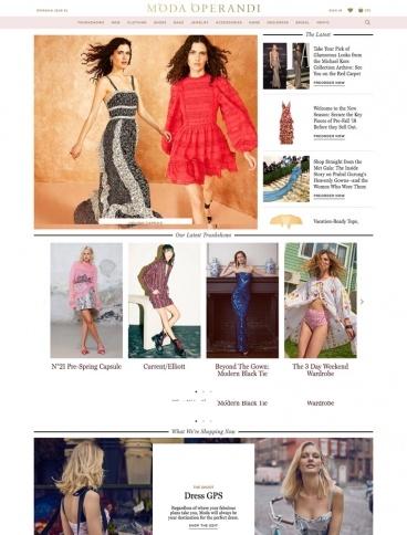 eCommerce website: Moda Operandi