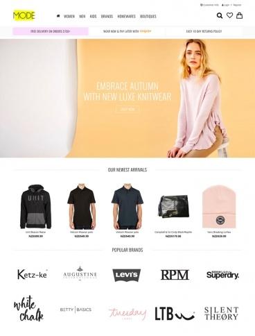 eCommerce website: Mode NZ