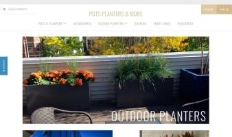 eCommerce website: Pots Planters & More