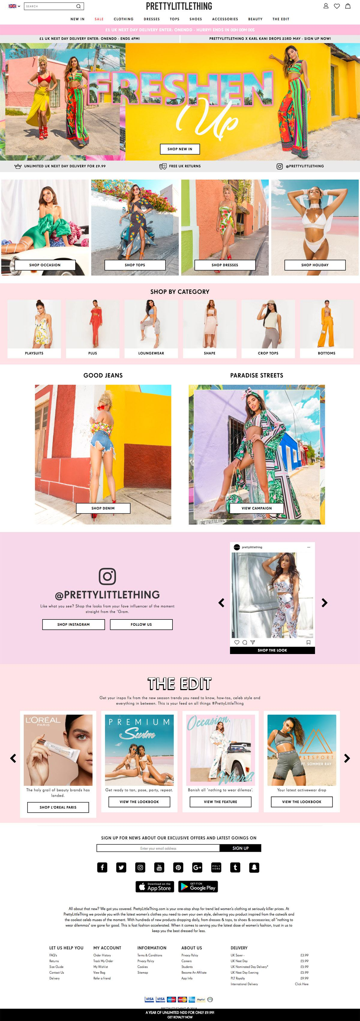 Pretty Little Thing Ecommerce Website Design Gallery Tech Inspiration
