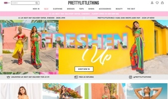 eCommerce website: Pretty Little Thing