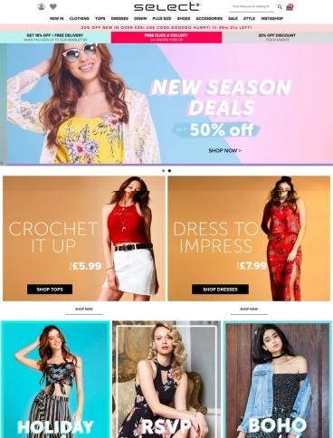 eCommerce website: Select Fashion