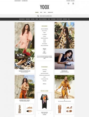 eCommerce website: YOOX