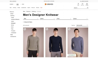 eCommerce website: Zalando