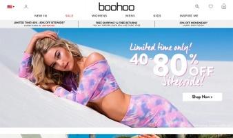 eCommerce website: boohoo