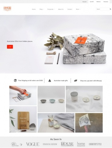 eCommerce website: Country Culture