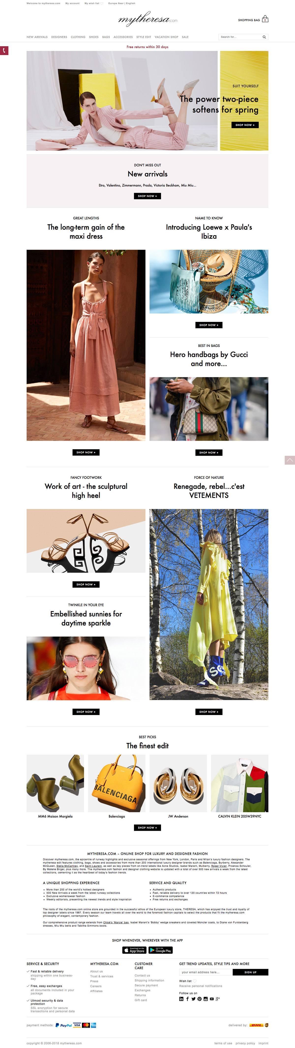 eCommerce website: mytheresa.com