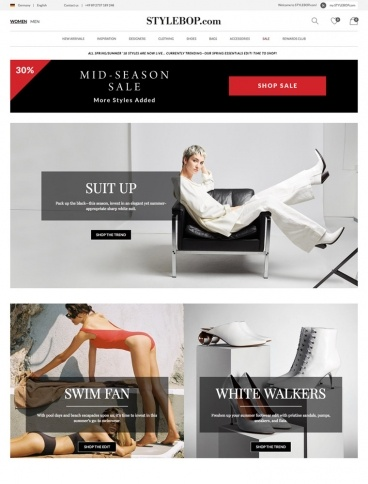eCommerce website: STYLEBOP