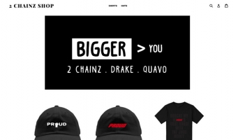 eCommerce website: 2 Chainz Shop