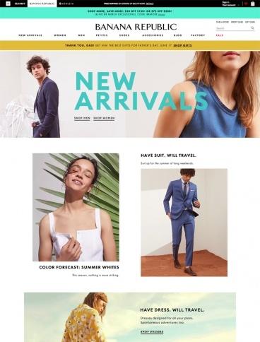 eCommerce website: Banana Republic