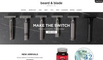 eCommerce website: Beard & Blade
