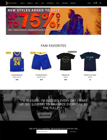 eCommerce website: Beast Mode