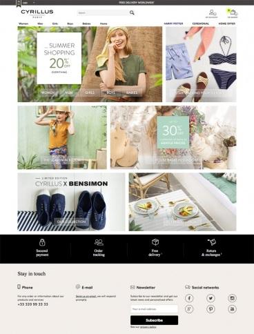 eCommerce website: Cyrillus