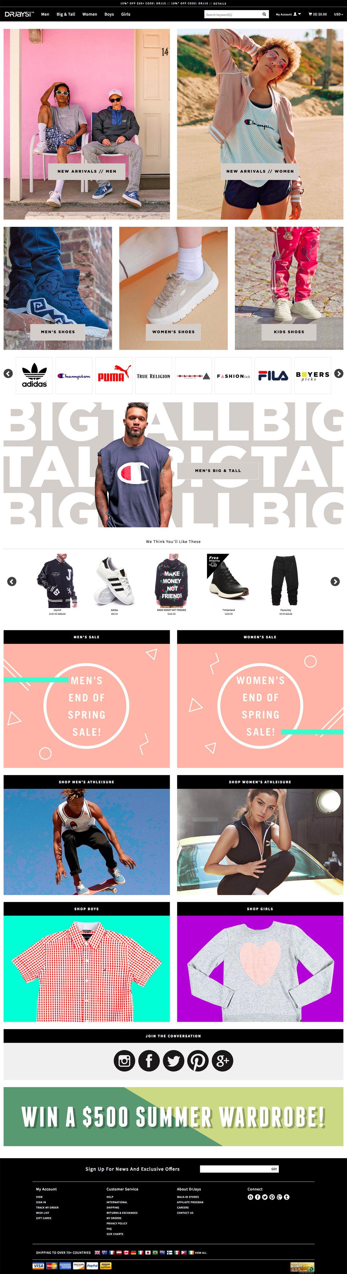 eCommerce website: DrJays