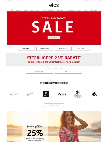 eCommerce website: Ellos