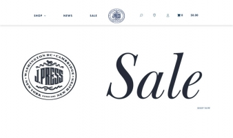 eCommerce website: J. Press