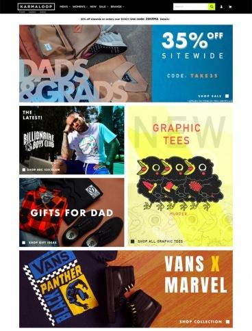 eCommerce website: Karmaloop