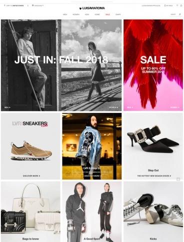 eCommerce website: LUISAVIAROMA
