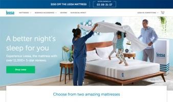 eCommerce website: Leesa