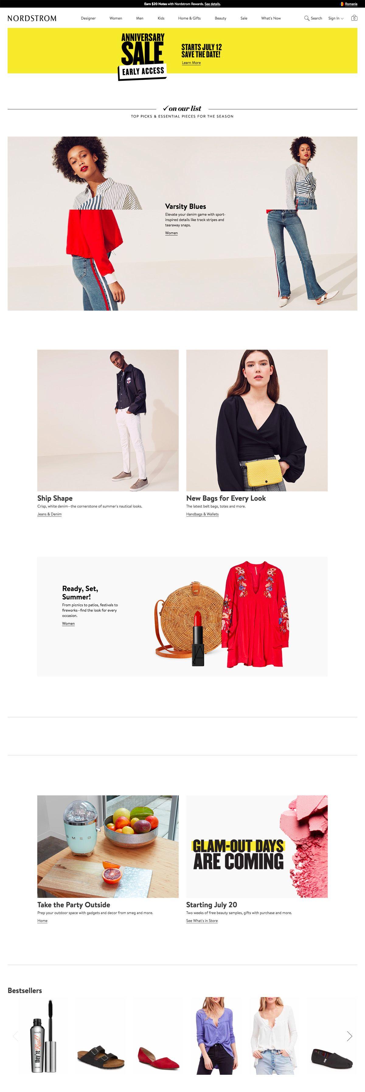 eCommerce website: Nordstrom