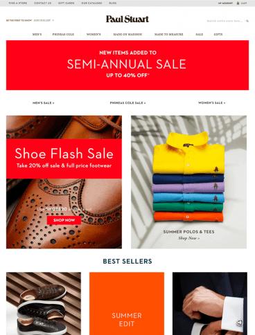 eCommerce website: Paul Stuart