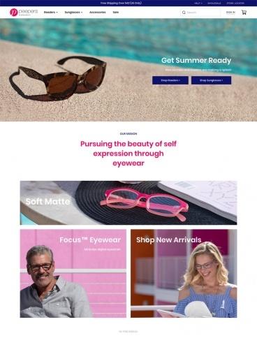 eCommerce website: Peepers