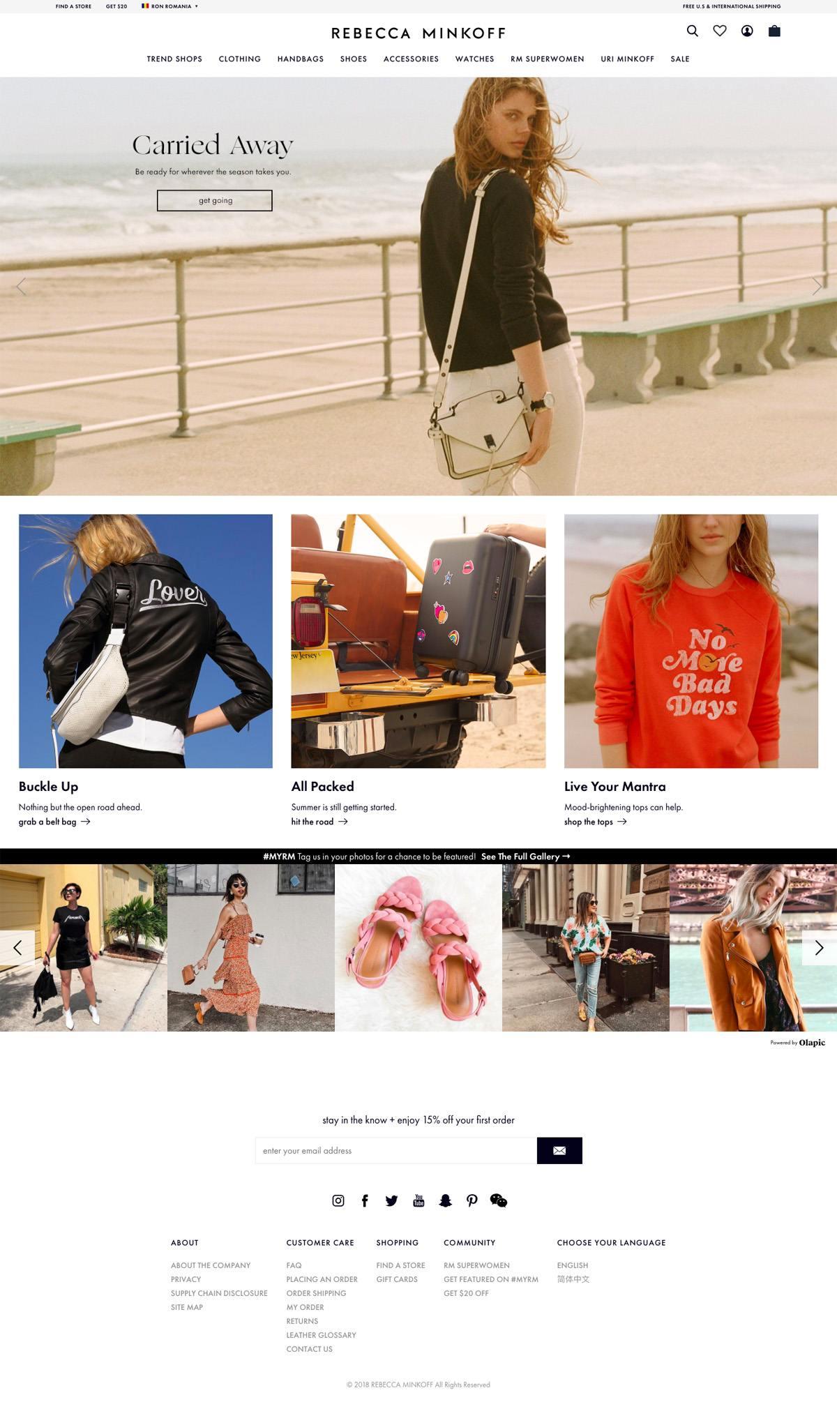 eCommerce website: Rebecca Minkoff