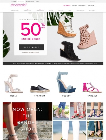 eCommerce website: ShoeDazzle