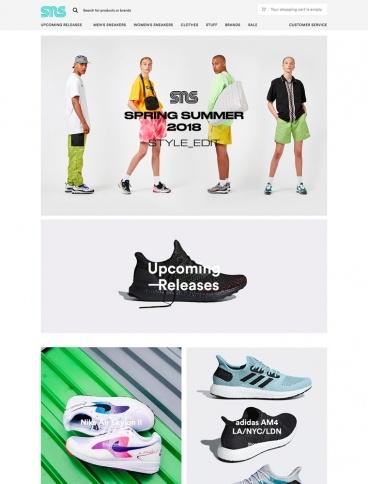 eCommerce website: Sneakersnstuff