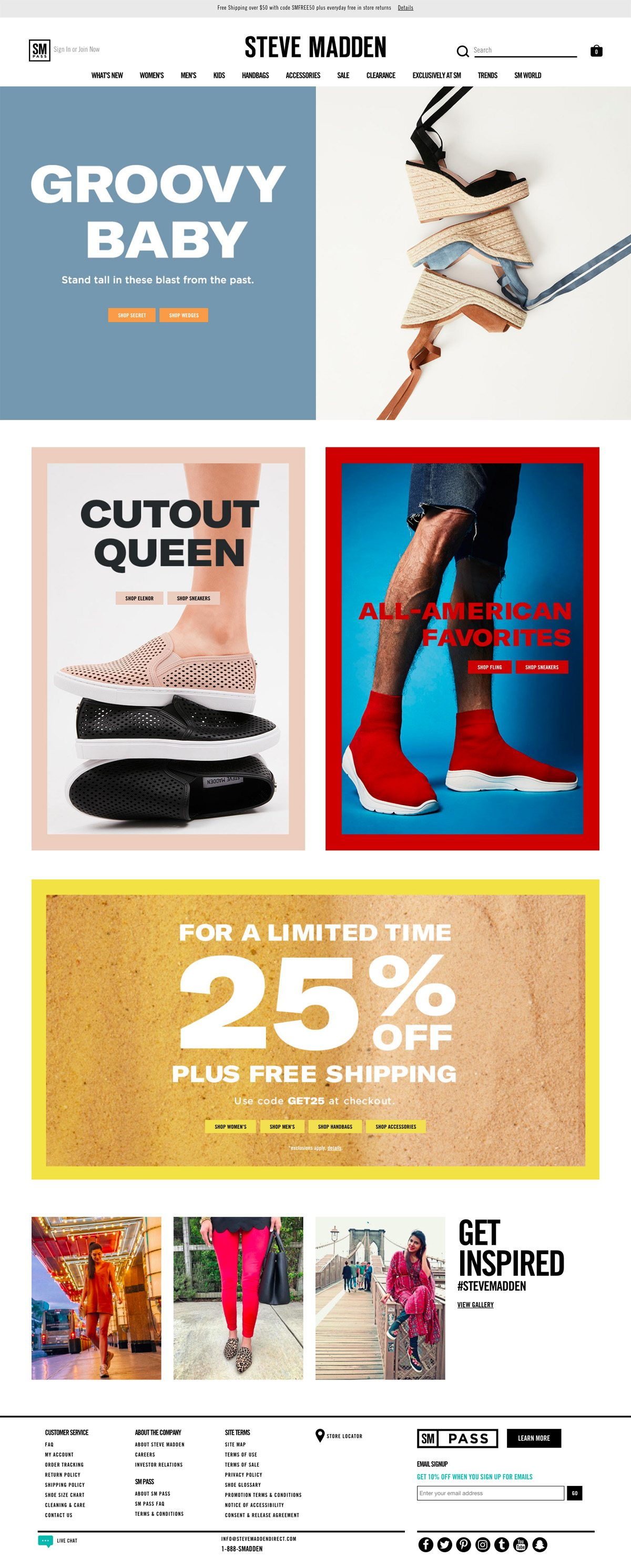 Post impresionismo Anciano Hasta aquí  Steve Madden | eCommerce Website Design Gallery & Tech Inspiration