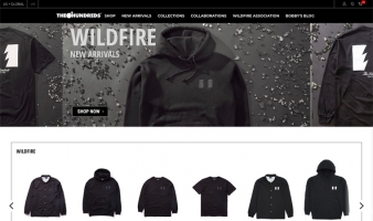 eCommerce website: The Hundreds