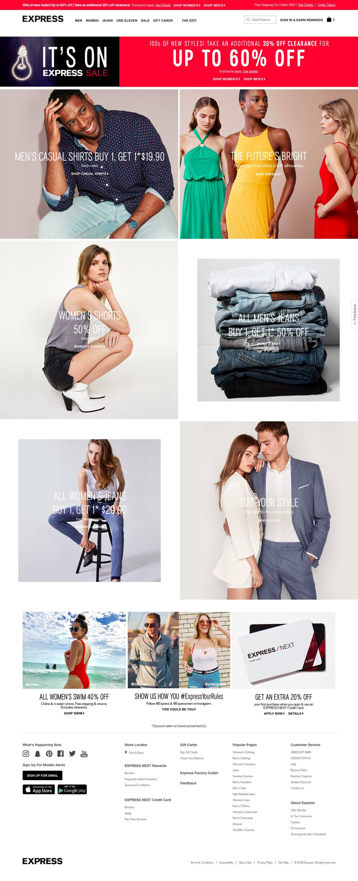 eCommerce website: Express