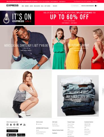 eCommerce website: Express