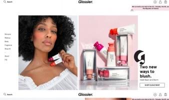eCommerce website: Glossier