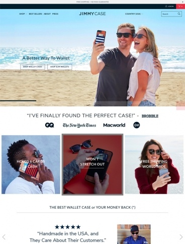 eCommerce website: jimmyCASE