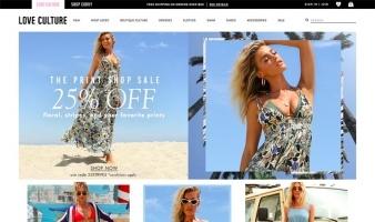 eCommerce website: Love Culture