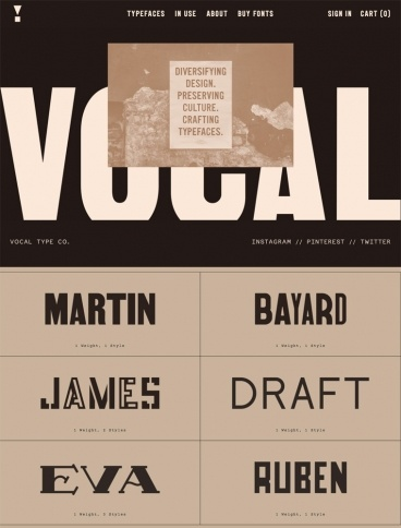 eCommerce website: Vocal Type Co.